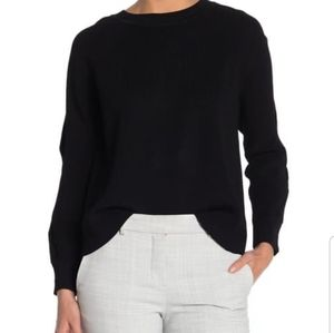 Rachel Roy Cable Sleeve Cold Shoulder Sweater M